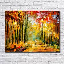 2018 large canvas paintings knife tree landscape oil painting wall picture for living room decor wall art canvas no framed from dafenoilpaintingyeah