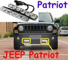 patriot led daytime running light 2pcs set wire of harness 12w 12v abs 6500k super good quality free ship in car light assembly from automobiles