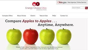 Puco Apples To Apples Natural Gas Rate Comparison Chart Switching Natural Gas And Power Providers Just Got Easier