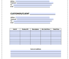 Hvac Forms Invoices Invoice Template Pdf Excel Free Templates Great ...