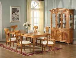 Dining Room Modern Varnished Dining Room Sets With Oval Wall - Formal oval dining room sets