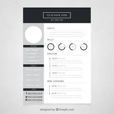 free resume template design resume template cute templates free programmer cv 9 throughout