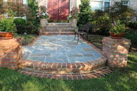brick and flagstone front walk