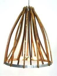 wine barrel chandelier light fixtures furniture ideas wooden napa wood metal more views atom double ring wooden wine barrel stave chandelier new