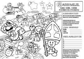 Kleurplaat Super Mario