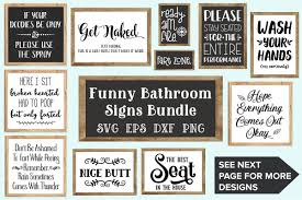 bathroom signs.  Bathroom Bathroom Signs Bundle  SVG EPS DXF PNG Example Image 1 And