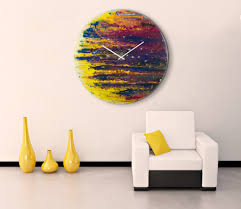 round wall clock art
