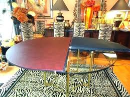 60 inch glass table top round extender dining extension pad wood tops