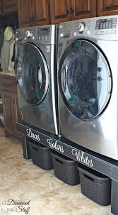 17 best ideas about washer and dryer washer dryer diy washer and dryer pedestals from a diamond in the stuff