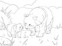 Disegno Di Mamma Panda E Cucciolo Da Colorare Disegni Da Colorare