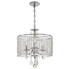 home decorator collection 3 light polished chrome chandelier w k9 crystal dangle
