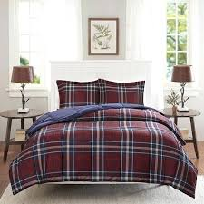 red plaid comforter navy blue burdy red plaid comforter full queen set cozy kohls red plaid