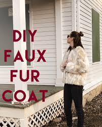 fabulous diy faux fur coat