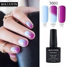 Nail Art Mood Changing Color Gel Nail Polish 8ml Soak Off Led UV ...