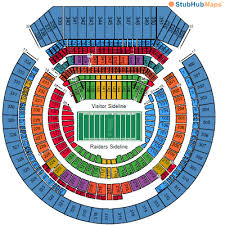 Oakland Seating Chart Lv Raiders Stadium Seating Chart Jaguar Clubs Of North America