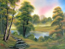 bob ross paintings and certification paperblog