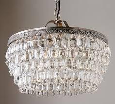 pottery barn clarissa crystal drop round chandelier pottery barn chandeliers pendants