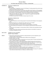 Training Coordinator Resume Samples Velvet Jobs