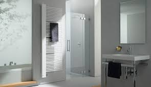 ... Hot water towel radiator / metal / contemporary / bathroom CREDO-HALF  KERMI ...