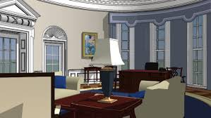 the white house oval office. Large Preview Of 3D Model White House Oval Office The