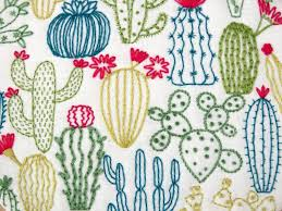 Cactus Embroidery Pattern Interesting Inspiration