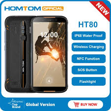 <b>Homtom HT80 IP68</b> Waterproof Smartphone 4G LTE Android 10 5.5 ...