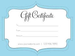 Blank Gift Certificates Templates Birthday Certificate