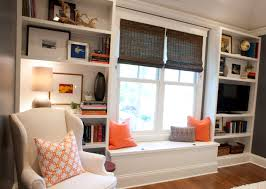 master bedroom built in bookcases after styling