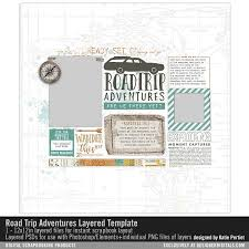 Road Trip Template Road Trip Adventures Layered Template Katie Pertiet Pse