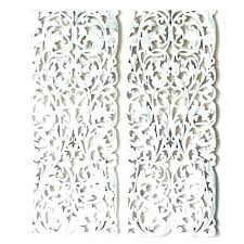 by white carved wall decor pier 1