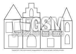 Fensterbild Transparentpapier Häuser 2 Fensterschmuck