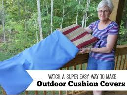 easy way to make outdoor cushion covers