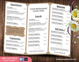 french menu template french menutemplates printable restaurant menu template
