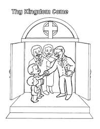 Small Picture Lords prayer coloring pages for kids parentsd and teachers