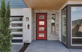 modern front door. Modern Red Front Door, Therma-tru New Pulse Collections 2015 Modern-entrance Door