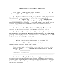 with material construction agreement 10 sample construction contract forms sample forms