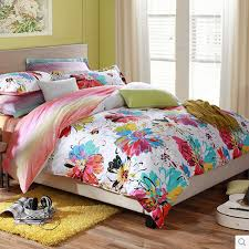 Colorful Floral Artistic Cheap Kids' Bedding Sets Clearance ... & Colorful Floral Artistic Cheap Kids' Bedding Sets Clearance Adamdwight.com