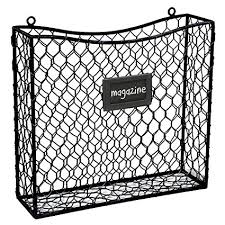 Black Wire Magazine Holder New Amazon Country Rustic Black Metal Wire Wall Mounted Magazine