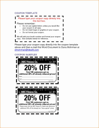 Coupon Template For Word Free Printable Invoice Template Word Brettkahr 13
