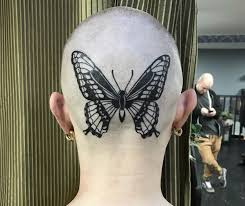 Fresh And Bold Butterfly Head Tattoo On Me Fron Fay Young At The Fall