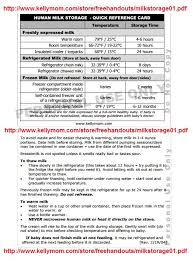 Kellymom Breastmilk Storage Chart Childcare And The Breastfed Baby Faqs Including Breastmilk