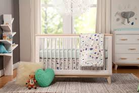 Babyletto Scoot Crib + Dresser Combo In White And Washed Natural ...
