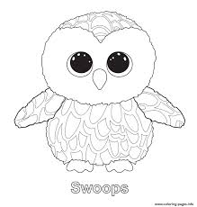 Beanie Boo Coloring Pages Owls