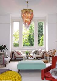 glitzy one of amanda s murano glass chandeliers adds character to this room