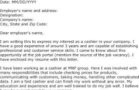Cashier Sample Cover Letters Resume For Fresh Objective Retail