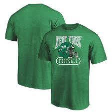 True York New Men's T-shirt Club Green Jets Throwback Classics Majestic Pro