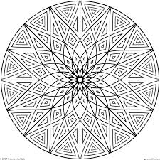 Sacred Geometry Coloring Pages With Collection Of Hard Geometric