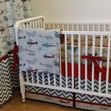 vintage airplane crib bedding