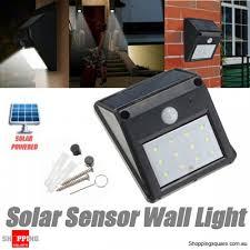 12 led solar powered outdoor garden security pir motion sensor light