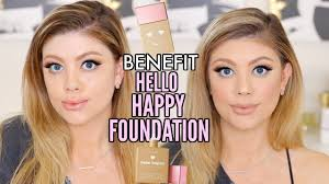 Benefit Foundation Colour Chart Benefit Hello Happy Foundation Review All Shades Wear Test